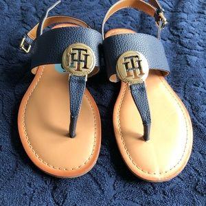 Womens Blue Tommy Hilfiger Original Sandals